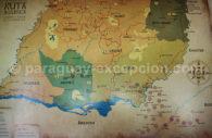 Carte du Paraguay des missions jésuites