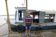 Traversée piétons du fleuve Paraná entre Puerto Pilar et Puerto Colonia Cano, Paraguay