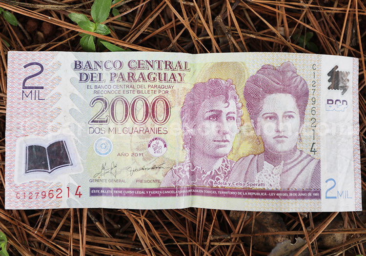 Billet paraguayen avec Paraguay Excepción