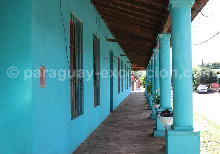 Maison coloniale bleue de Santa Rosa de Lima, Paraguay