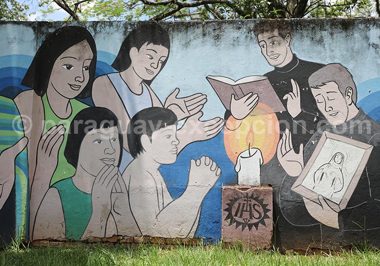 Fresque de la ville de San Ignacio Guazu, Paraguay