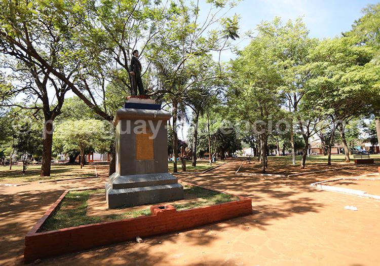 Parc du centre de la ville de Santa Rosa de Lima, Paraguay