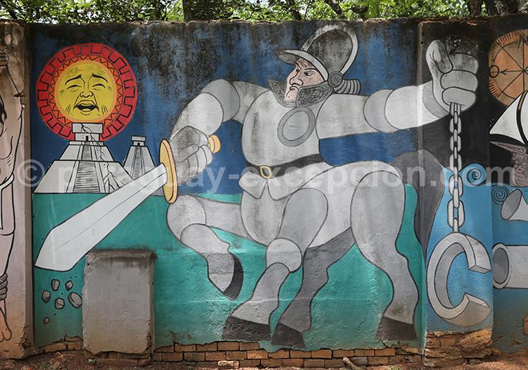 Peinture dans les rues de San Ignacio Guazu, Paraguay