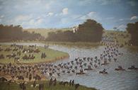 Passage du la rivière San Joaquin 1865, Province de Corrientes. Candido Lopez