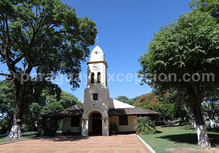 Clocher de l'église de Piribebuy, Paraguay, Cordillera