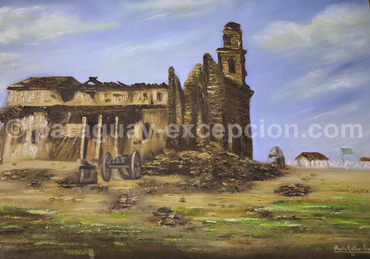 Ruines jésuites, Église San Carlos Borromeo, Paraguay