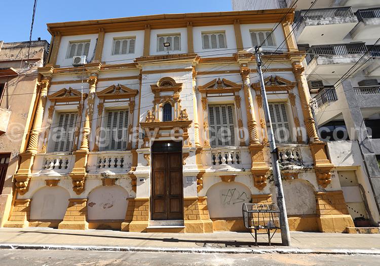 Façade de style coloniale, Asunción