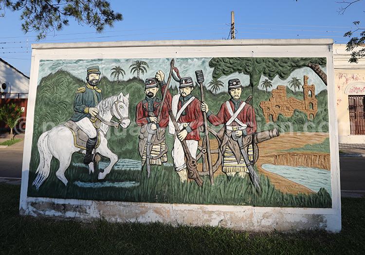 Fresque du Paraguay, guerre contre la Triple Alliance, Ñeembucú