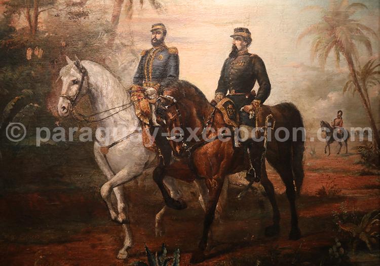 Guillermo Da Re. General Diaz avec le Maréchal Lopez 1890