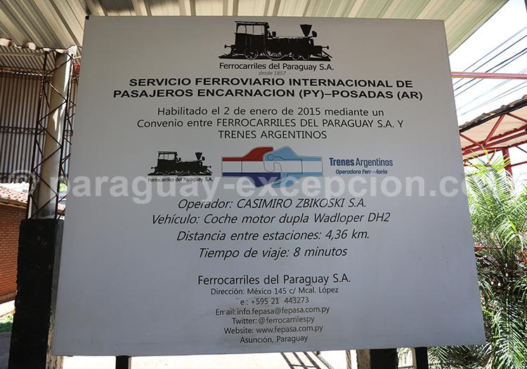 Passer la frontière argentine pour aller au Paraguay, Encarnación