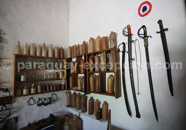 Musée de Paso de Patria, collection d'objets de la guerre contre la Triple Alliance, Paraguay