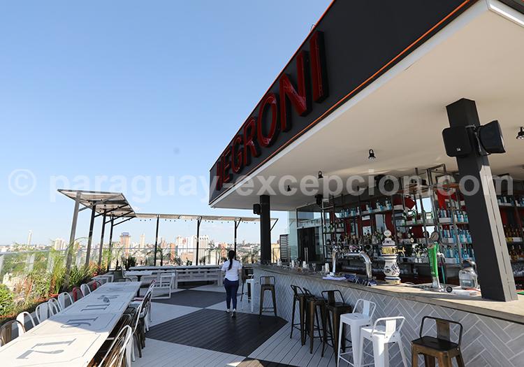 Diner au café Negroni d'Asunción au Paraguay
