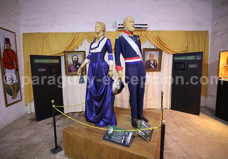 Habits traditionnels du Paraguay, musée Humaita