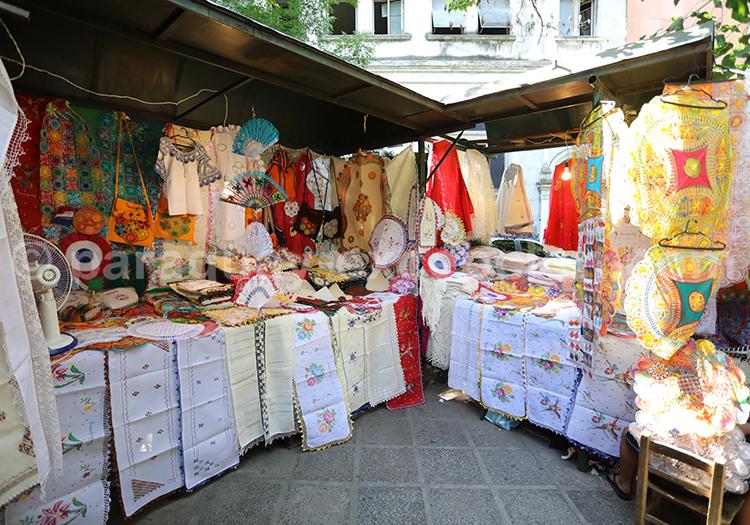 Paseo artesanal, marché artisanal de la ville d'Asunción, Paraguay