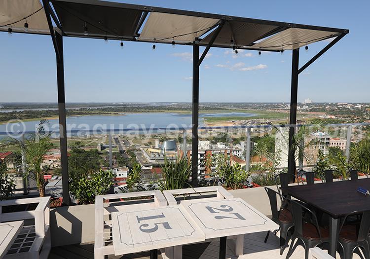 Restaurant avec vue panoramique, Café Negroni à Asunción, Paraguay