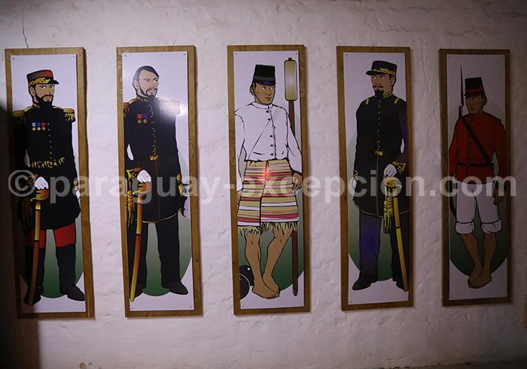 Tableau des habits de l'armée paraguayenne à l'époque de la guerre contre la triple alliance, Paraguay