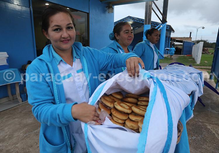 Panier de chipa au Paraguay