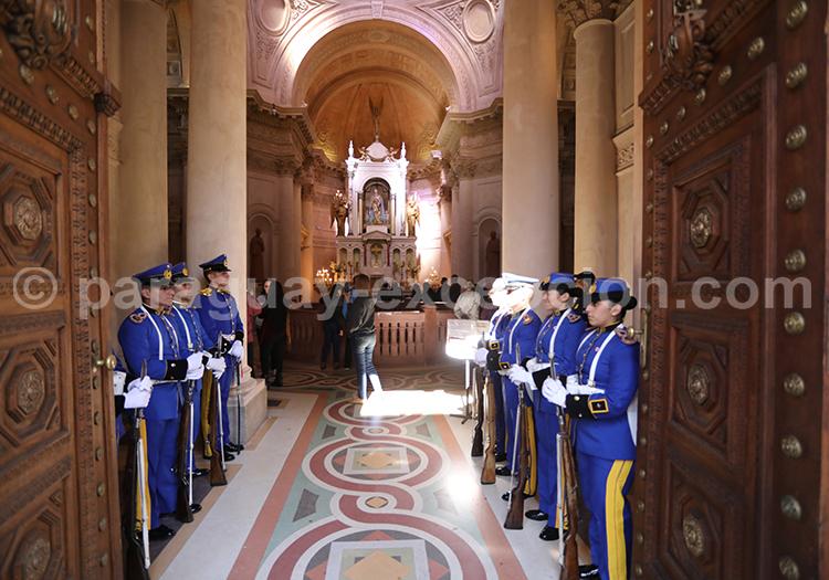 Cambio de turno Panteón de los Héroes Asunción