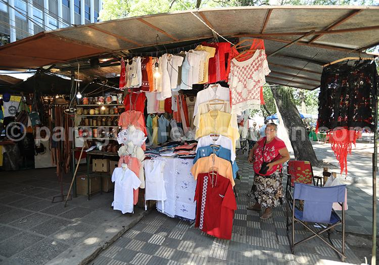 Le marché artisanal d'Asunción, Paraguay