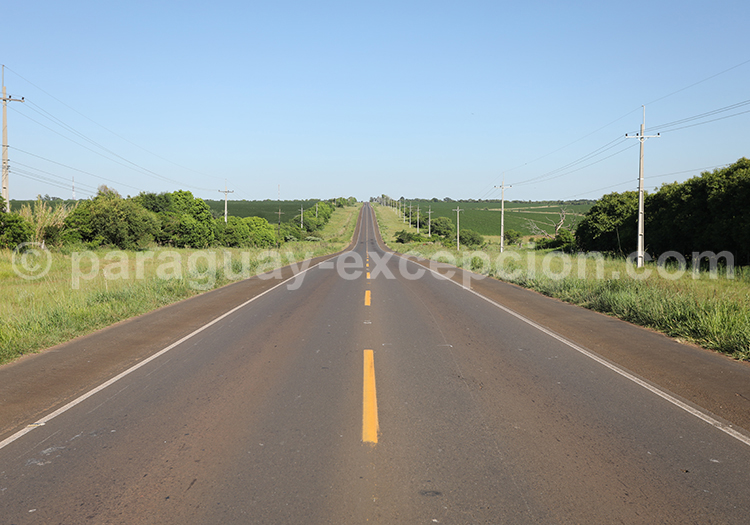 Route du sud du Paraguay