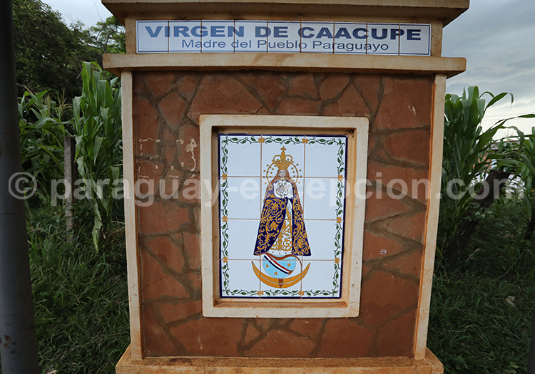 Route des vierges patronnes nationales, Encarnación, Paraguay, Vierge de Caacupe