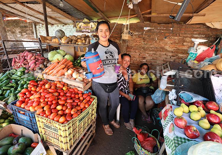 Marché de fruits et légumes, Abasto, Ciudad del Este, Paraguay
