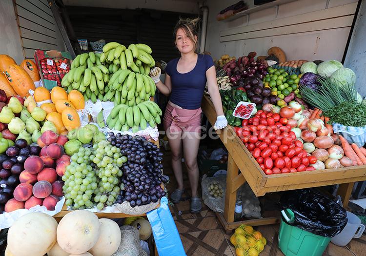 Verduleria du marché d'Abasto à Ciudad del Este, Paraguay