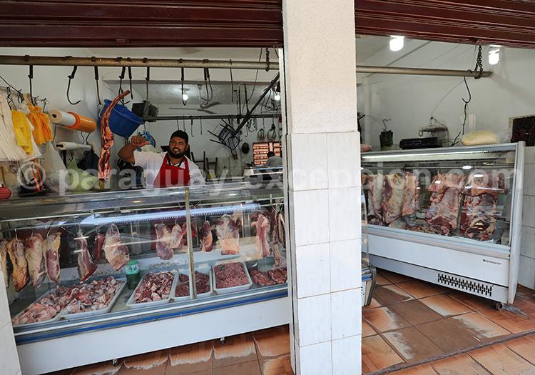 Boucherie au Paraguay, marché Abasto, Ciudad del Este