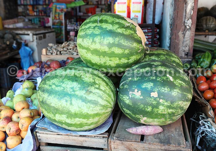 Pastèques du marché Abasto, Ciudad del Este, Paraguay