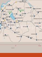 Carte de la région d'Asunción, Paraguay
