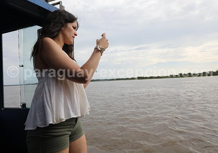 Traverser le fleuve Paraná entre Pilar et Colonia Cano, Paraguay