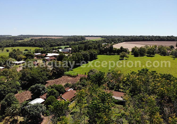Bella Vista vue du ciel, Yvy, Paraguay