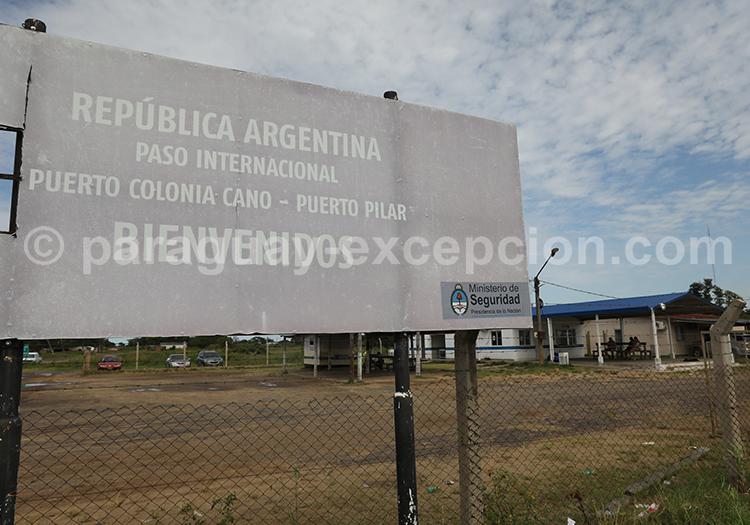 Frontière internationale entre le Paraguay et l'Argentine, Pilar et Colonia Cano